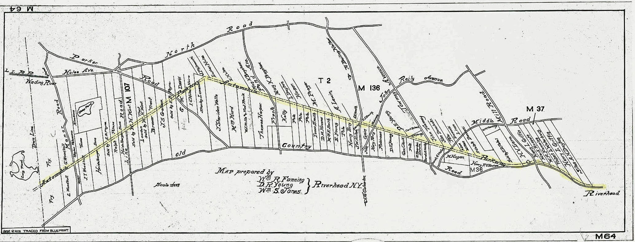 a survey of the planned automobile parkway just west of riverhead