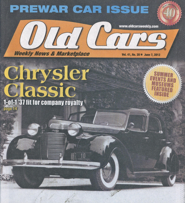 Old Cars Weekly Cover Article Chrysler Clic 1 Of 37 Fit For Company Royalty