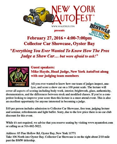 Everything You Always Wanted To Know How The Pros Judge A Car Show - New york autofest car show