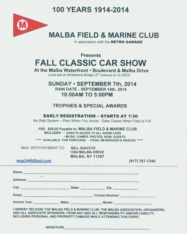 Vanderbilt Cup Races Malba Field Marine Club Fall Classic Car - Car show trophies dash plaques