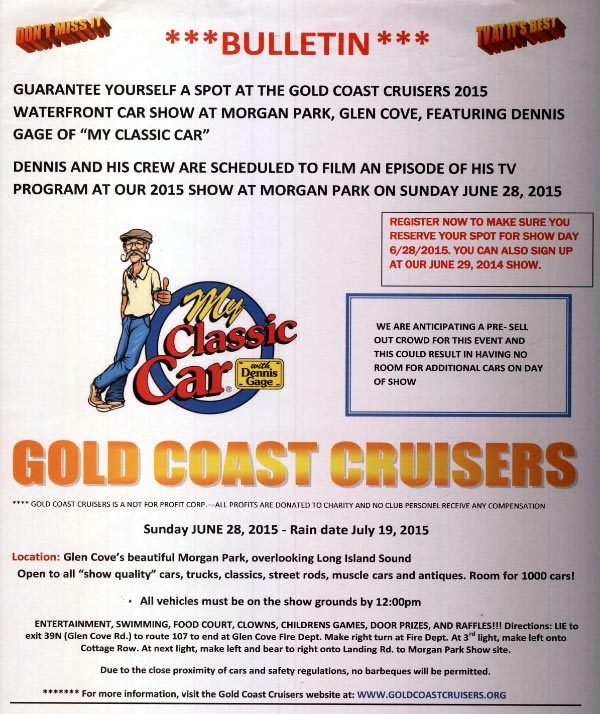 Vanderbilt Cup Races Gold Coast Cruisers Car Show Glen Cove Ny