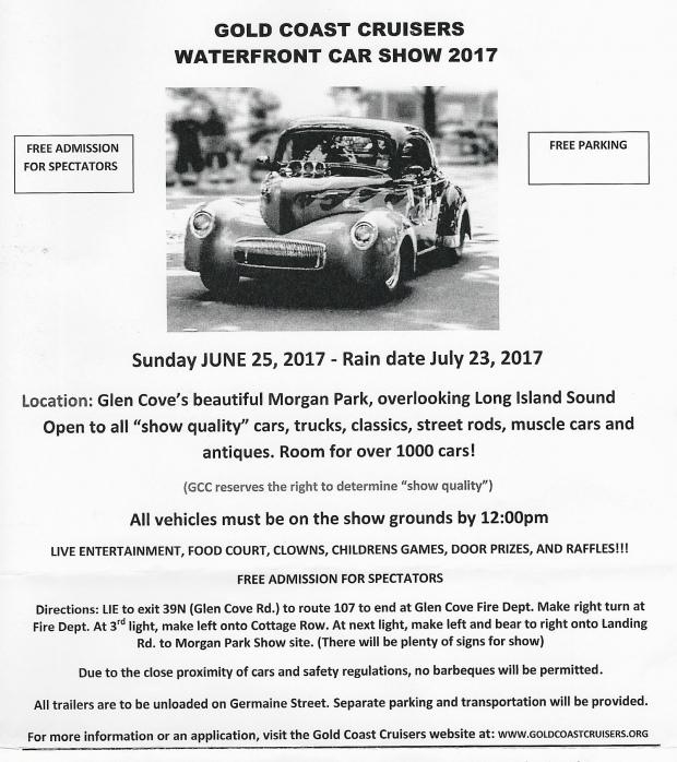 Vanderbilt Cup Races Gold Coast Cruisers Waterfront Car Show 2017