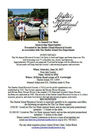 Shelter Island Historical Society Car Show