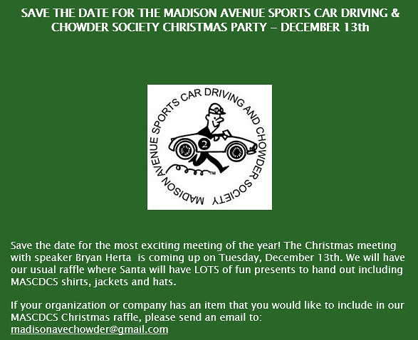 Madison Avenue Sports Car And Chowder Society